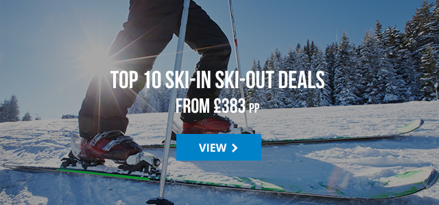 Top 10 ski in - ski out deals from £383 pp