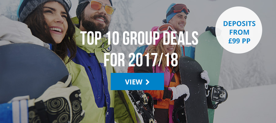 Top 10 group ski deals for 2017/18